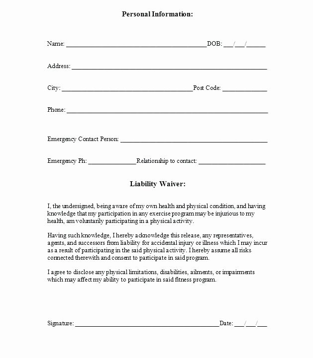 Personal Training Agreement Template New Personal Training Contract Template Beautiful Printable