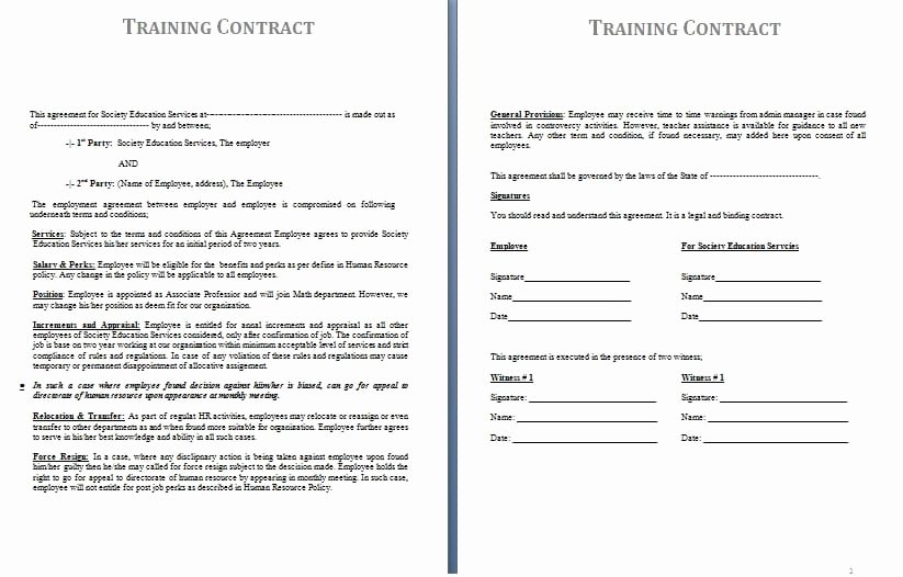Personal Training Contracts Template Beautiful Contracts
