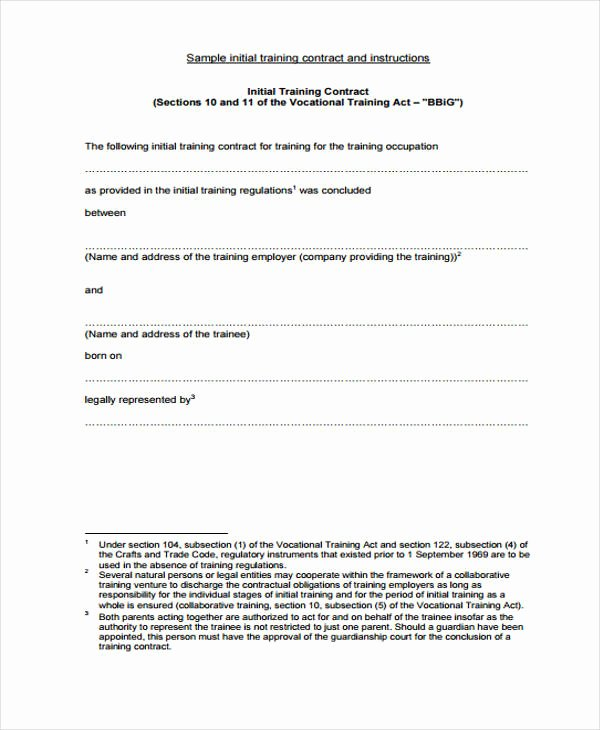 Personal Training Contracts Template Fresh 42 Sample Contract Templates