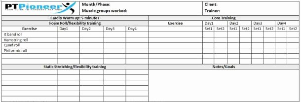 Personal Training Program Template Fresh Workout Schedule Template Your Clients Will Love You