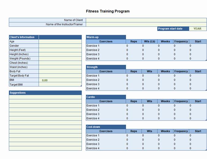 Personal Training Program Template Unique Business Trip Checklist Fice Templates