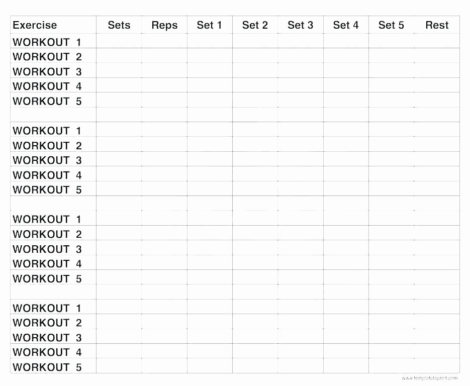 Personal Training Workout Template Beautiful Personal Trainer Workout Template Excel