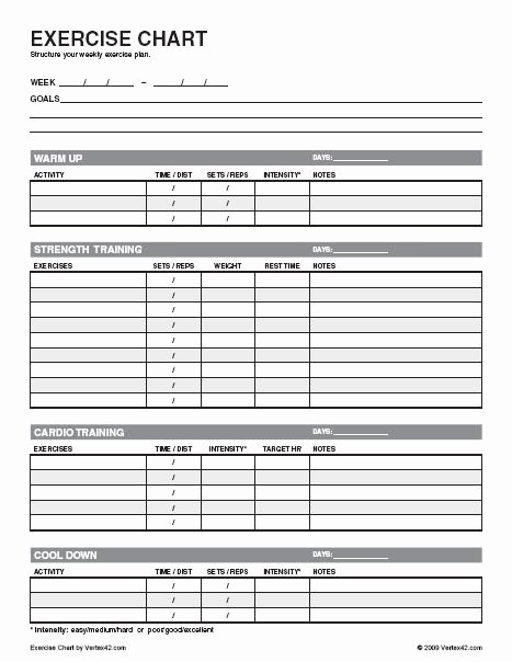 Personal Training Workout Template New Nasm Workout Template Pdf