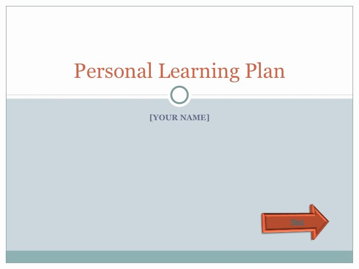 Personalised Learning Plans Template Lovely Personal Learning Plan Template