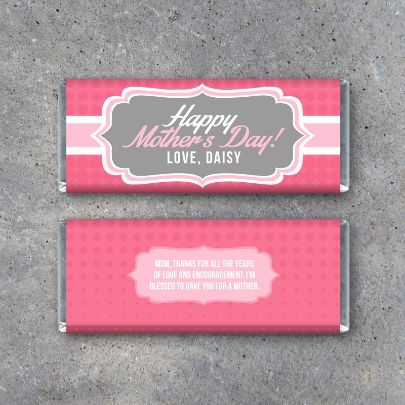 Personalized Candy Wrapper Template New Happy Mother S Day Personalized Candy Bar Wrappers