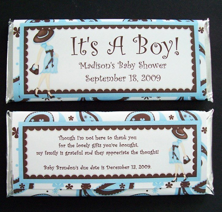 Personalized Candy Wrapper Template New Personalized Candy Bar Wrappers Baby Shower Favors Set Of 20