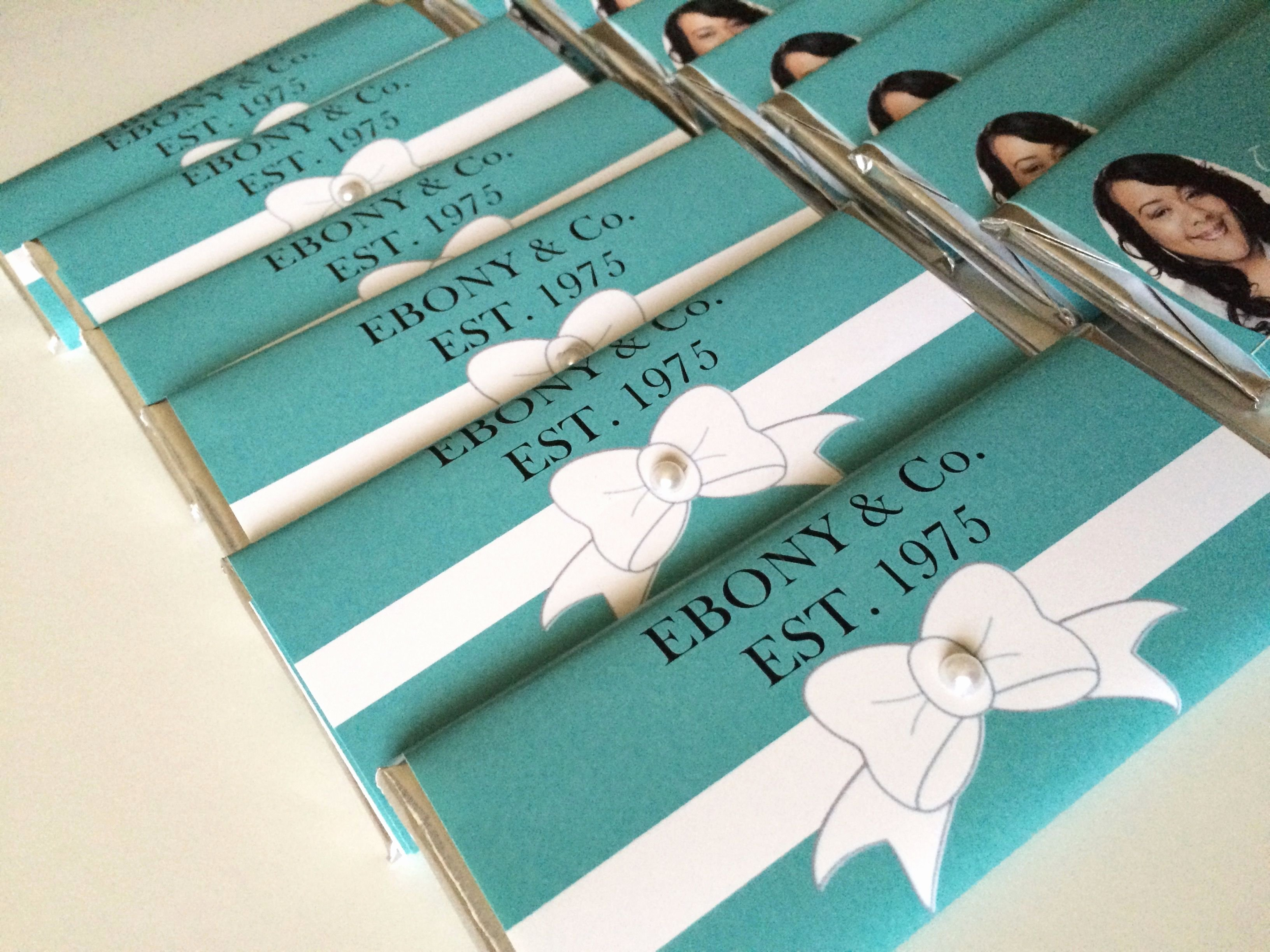 Personalized Candy Wrapper Template New Tiffany & Co Personalized Candy Bar Wrappers