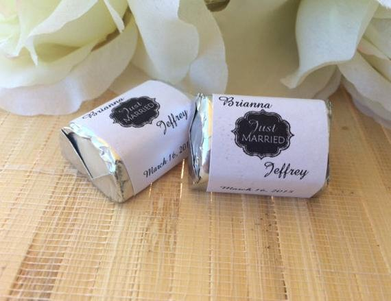 Personalized Candy Wrapper Template Unique Personalized Wedding Candy Wrappers Just Married Favors