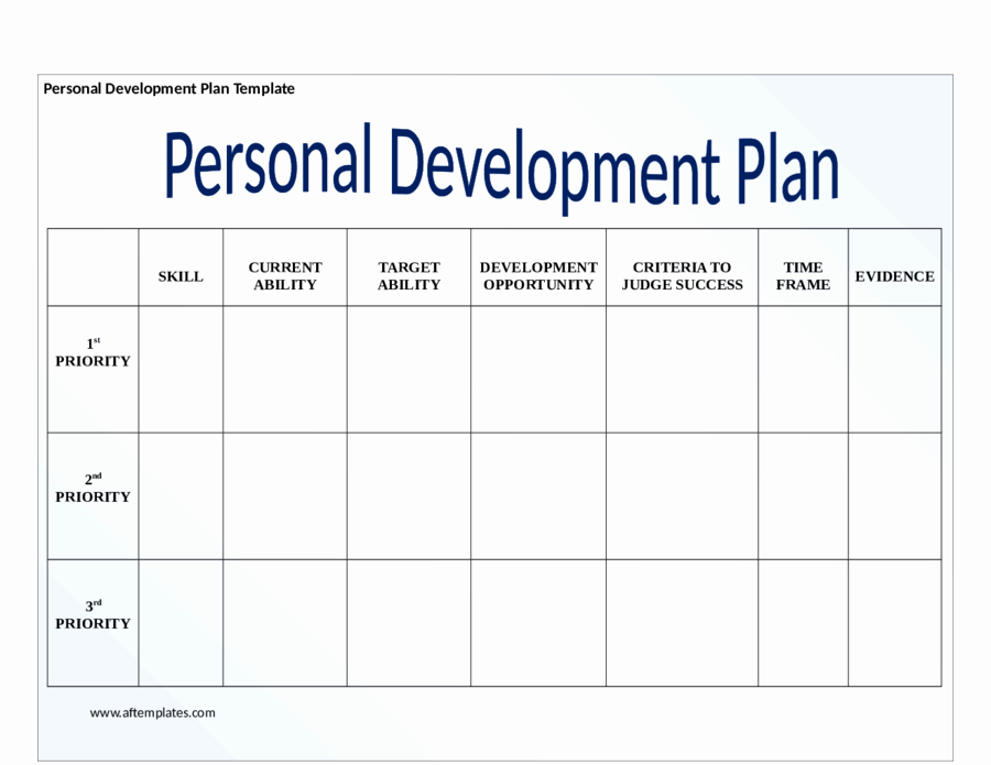 Personalized Learning Plan Template Fresh Personal Development Plan Template How to Write Personal