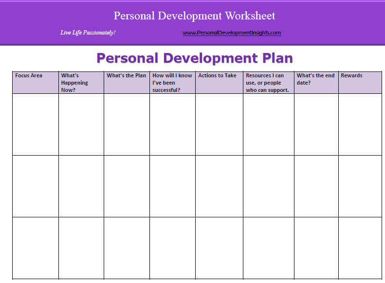 Personalized Learning Plan Template Inspirational 6 Personal Development Plan Templates Excel Pdf formats