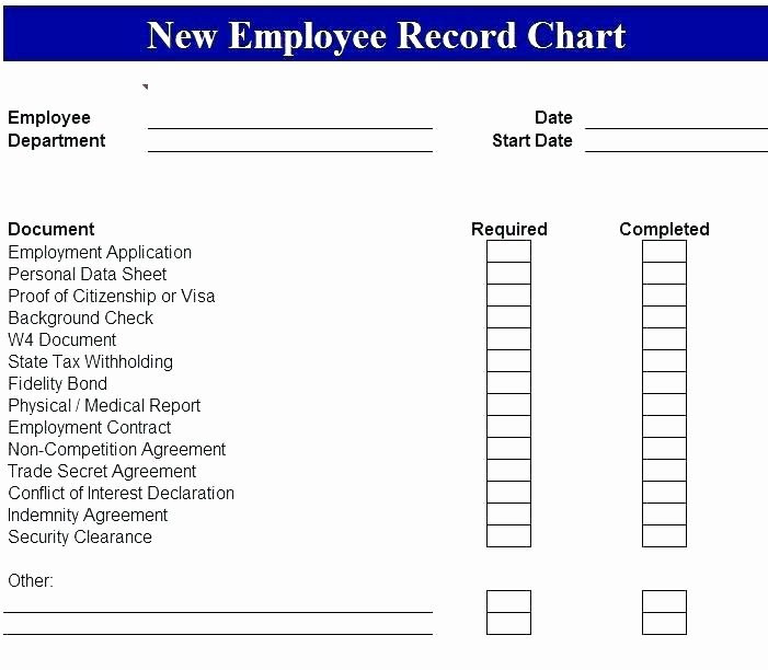 Personnel File Checklist Template Luxury Employee File Checklist Template – Energycorridor