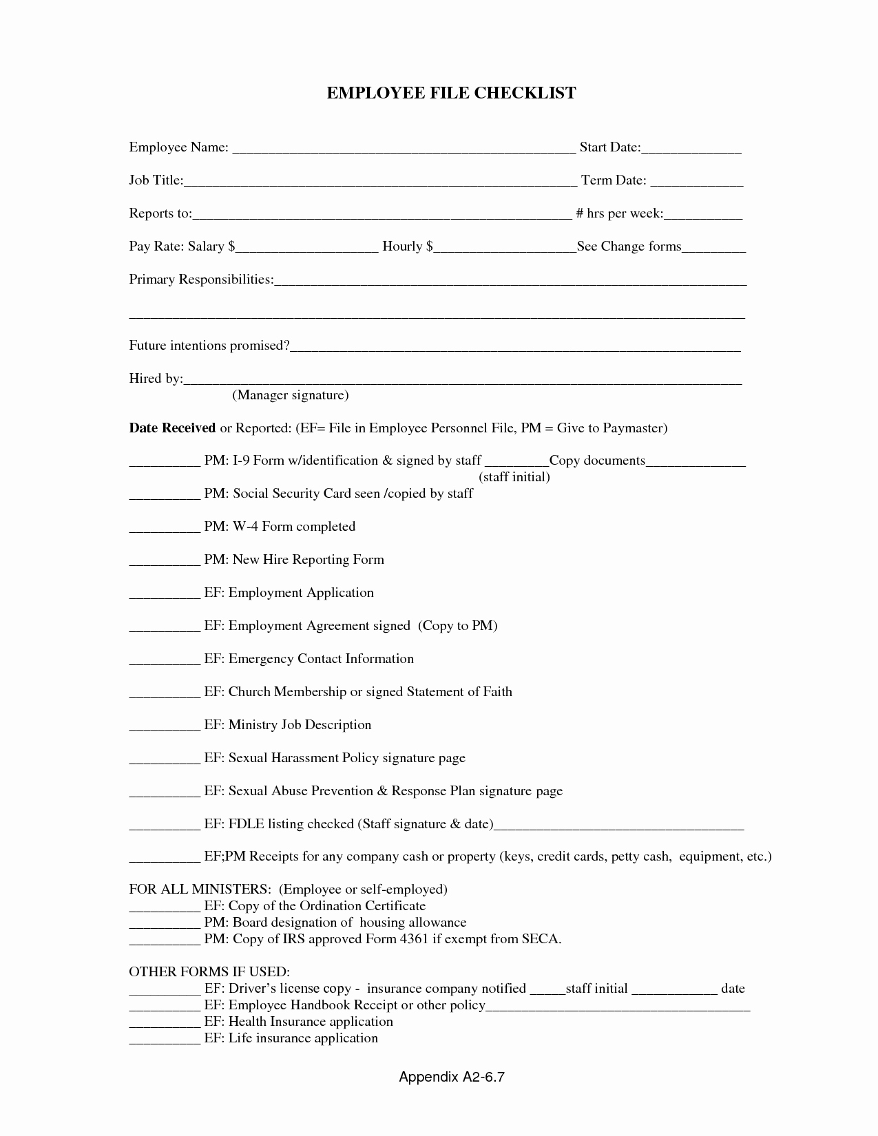 Personnel File Checklist Template New 15 Best Of Elementary Landform Worksheet 2nd