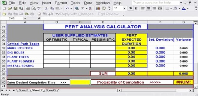 Pert Chart Template Excel Awesome Download Free Excel Pert Chart Templates for Project