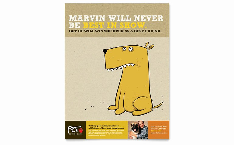 Pet Adoption Flyer Template Elegant Animal Shelter & Pet Adoption Flyer Template Word
