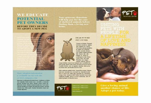 Pet Adoption Flyer Template New Animal Shelter & Pet Adoption Print Template Pack
