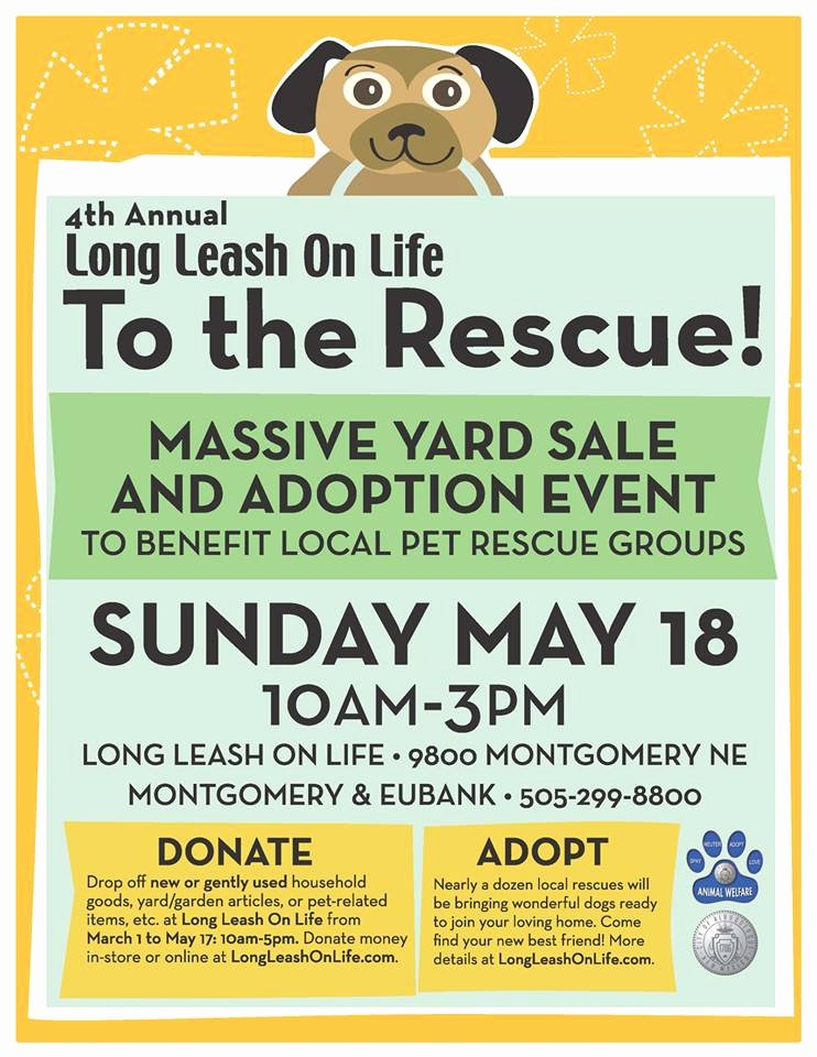 "Pet Adoption Flyer Template Unique ""to the Rescue"" Massive Yard Sale and Adoption event Nmdog"