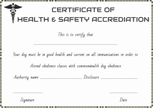 Pet Health Certificate Template Awesome Pet Health Certificate Template 9 Word Templates to