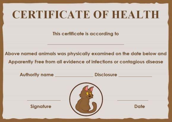 Pet Health Certificate Template Lovely Pet Health Certificate Template 9 Word Templates to