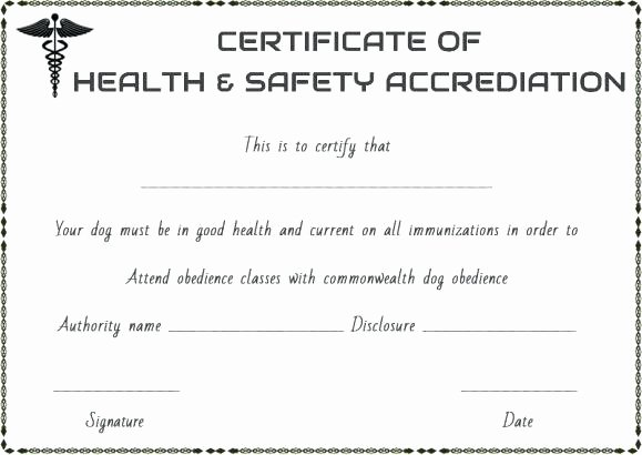 Pet Health Certificate Template Luxury Dog Health Certificate for Travel Template Pet Free