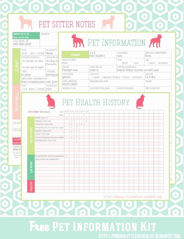 Pet Health Record Template Fresh Free Pet Printables to Keep Track Of Vaccinations