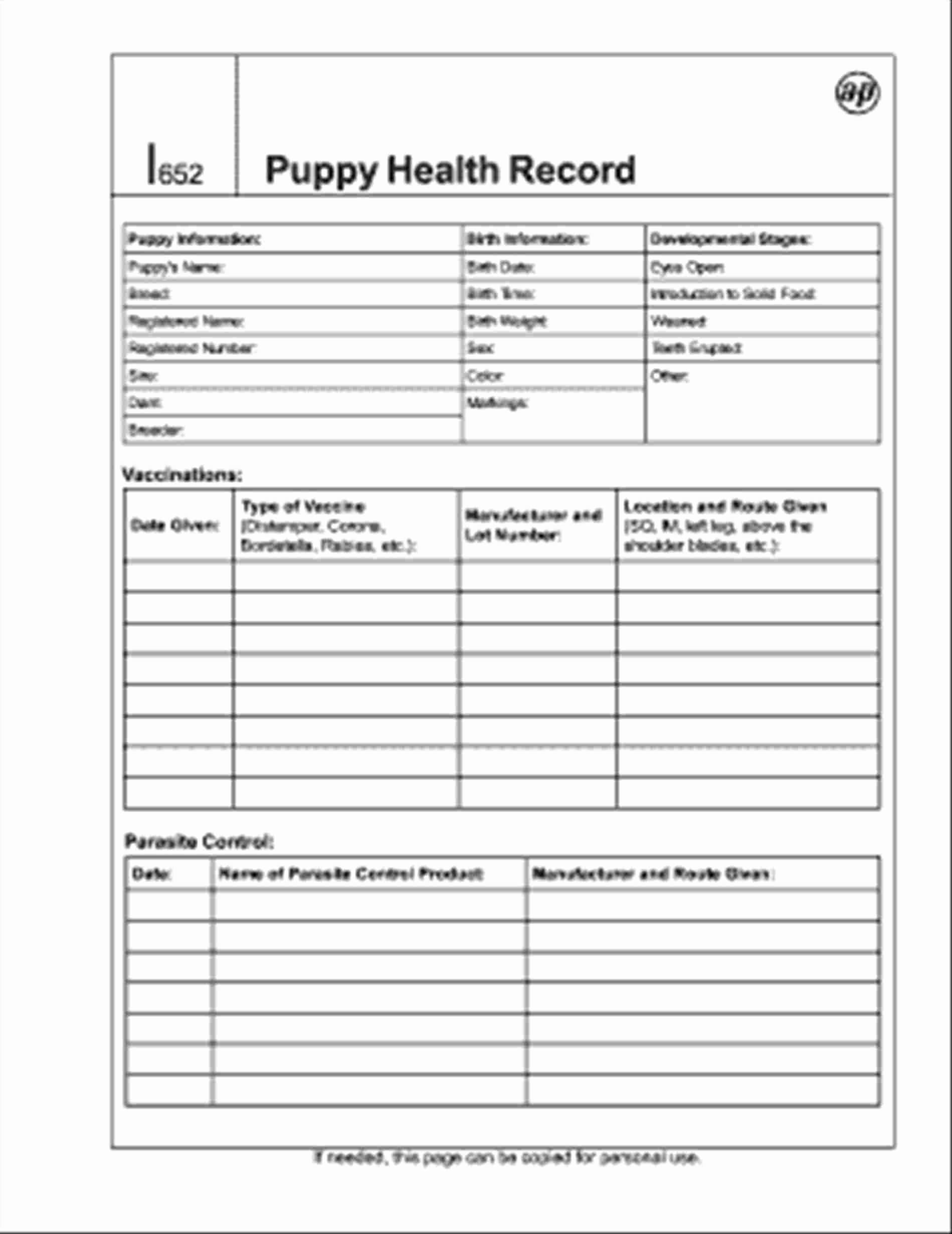 Pet Health Record Template Inspirational 13 14 Pet Health Record Template
