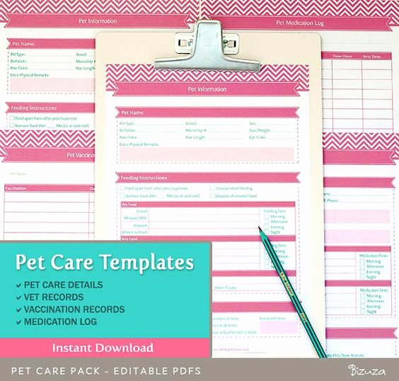 Pet Health Record Template Inspirational Pinterest • the World's Catalog Of Ideas