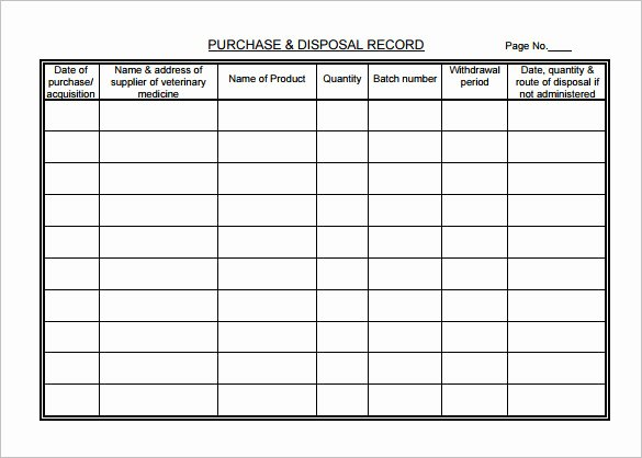 Pet Health Record Template Unique Medical Chart Template – 10 Free Sample Example format
