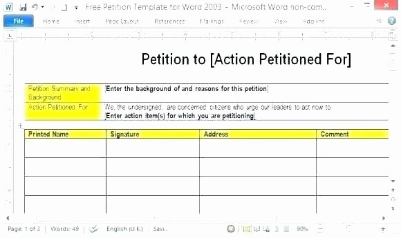 Petition Template Google Docs Beautiful Petition Templates How to Write Guide Free Template C