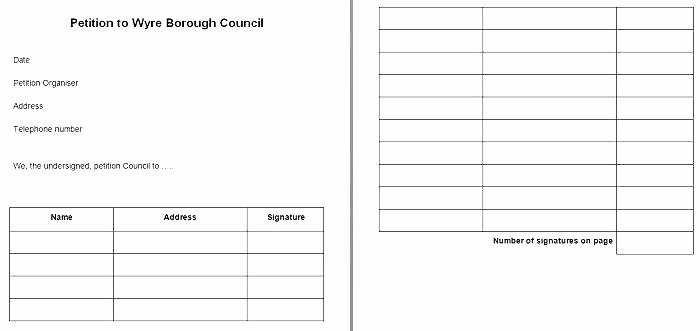 Petition Template Google Docs Best Of Petition form Template Printable Templates How to Write