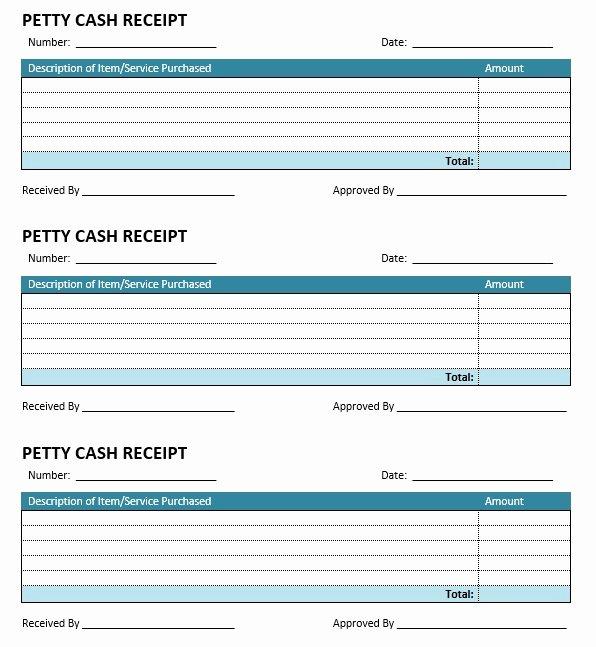 Petty Cash Receipt Template Elegant 8 Free Sample Petty Cash Receipt Templates Printable Samples