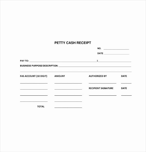 Petty Cash Receipt Template Lovely 8 Petty Cash Receipt Template Pdf