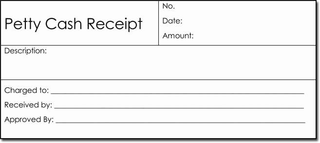 petty cash receipt templates