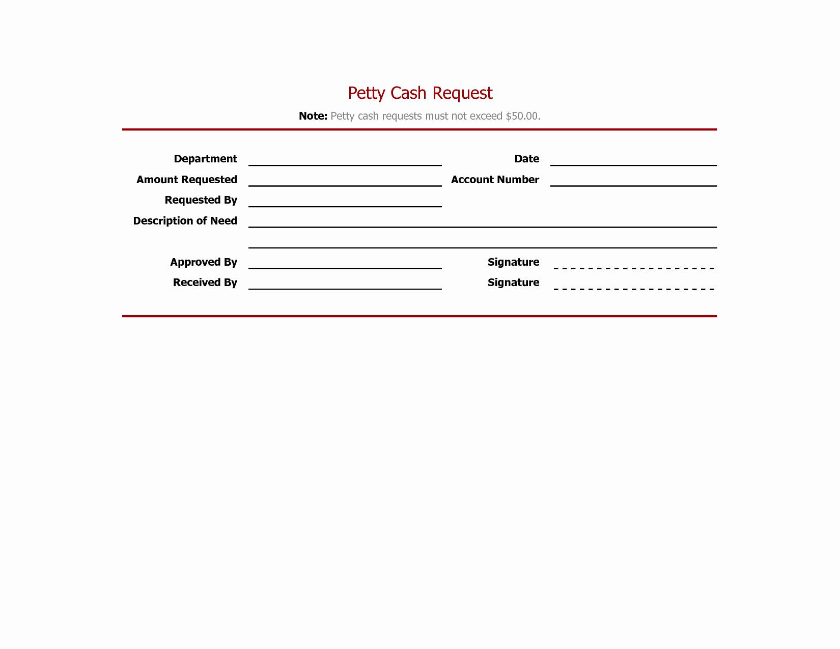 Petty Cash Receipt Template Unique Best S Of Petty Cash Voucher Template Excel Editable