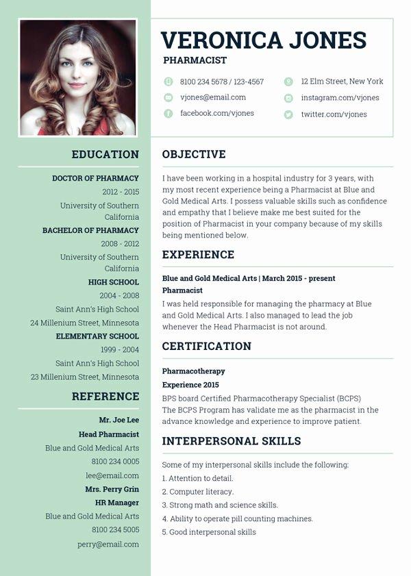 Pharmacy Curriculum Vitae Template Best Of 7 Pharmacist Curriculum Vitae Templates Free Word Pdf