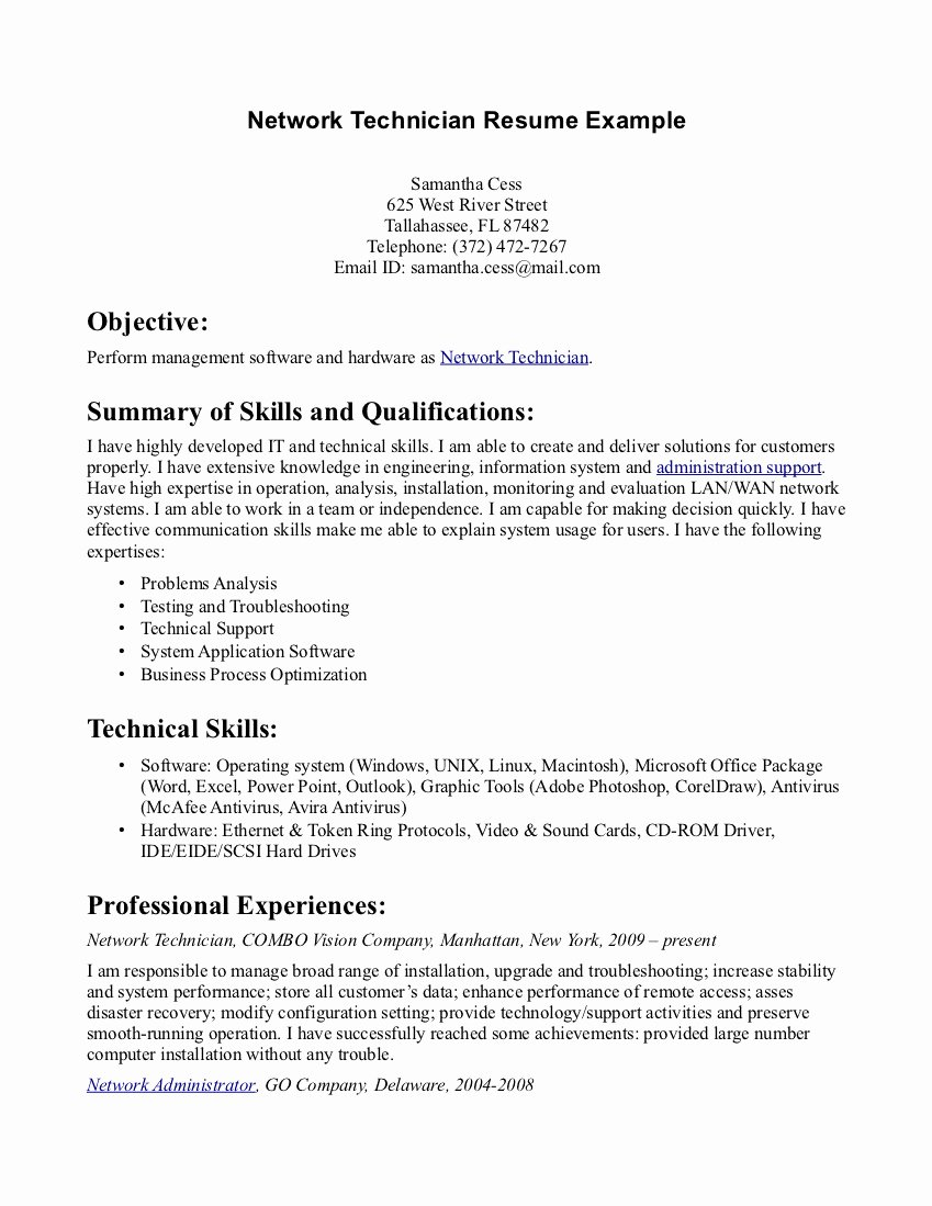 Pharmacy Technician Resume Template Beautiful Pharmacy Tech Resume Samples