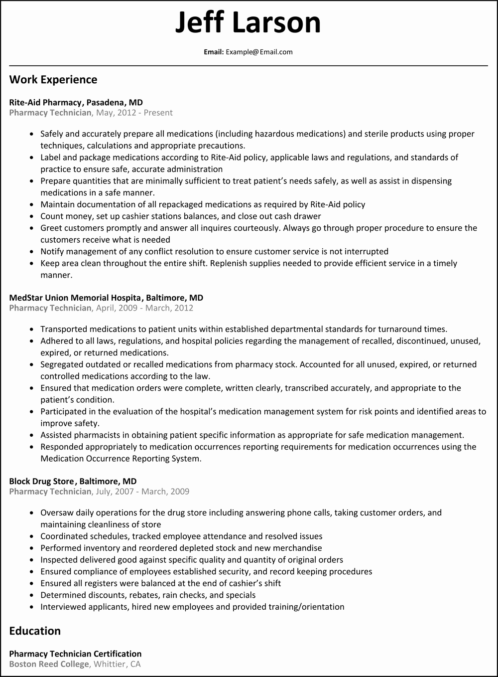 Pharmacy Technician Resume Template Best Of Pharmacy Technician Resume Skills