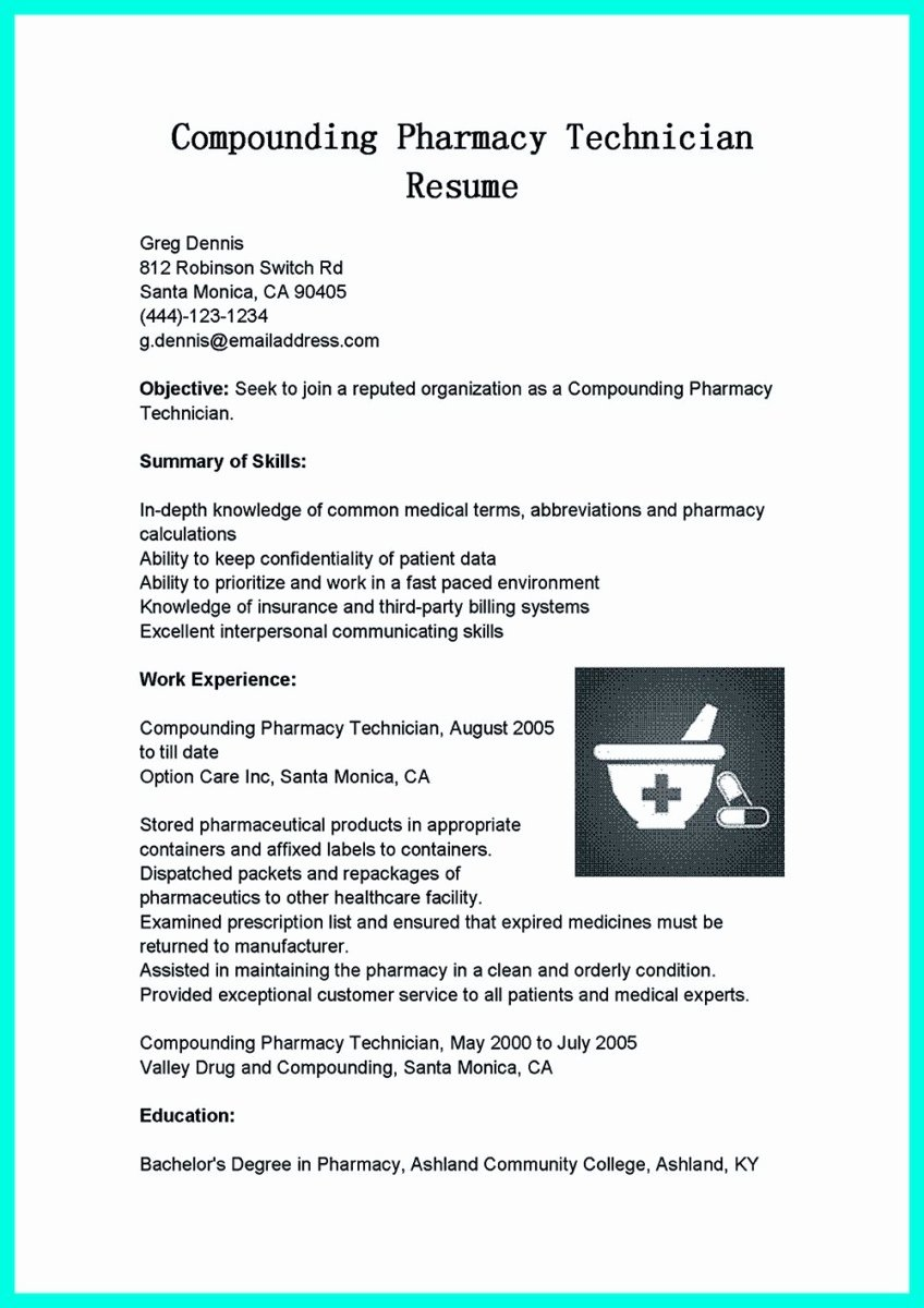Pharmacy Technician Resume Template Inspirational What Objectives to Mention In Certified Pharmacy