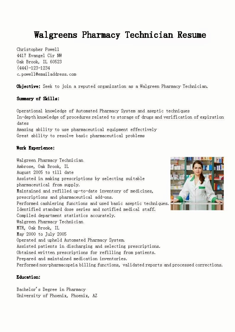 Pharmacy Technician Resume Template Luxury Resume Samples Walgreens Pharmacy Technician Resume Sample