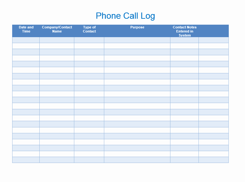 Phone Call Log Template Unique Sales Call List Templates 5 Free Templates Word Templates