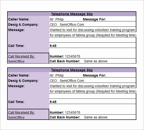 Phone Message Log Template Luxury 10 Sample Phone Message Templates – Pdf Word Excel
