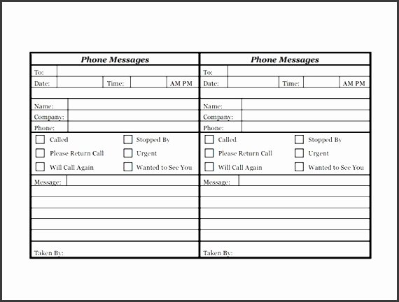 Phone Message Log Template Luxury 7 Telephone Message Template Editable Sampletemplatess