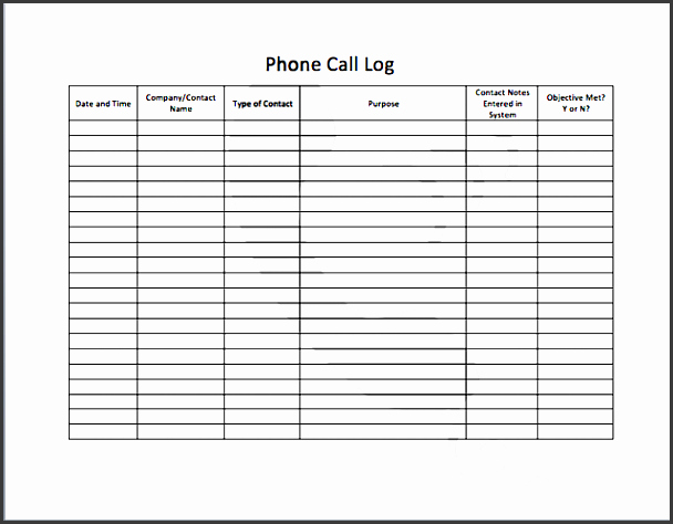 Phone Message Log Template Luxury 9 Professional Telephone Message Template