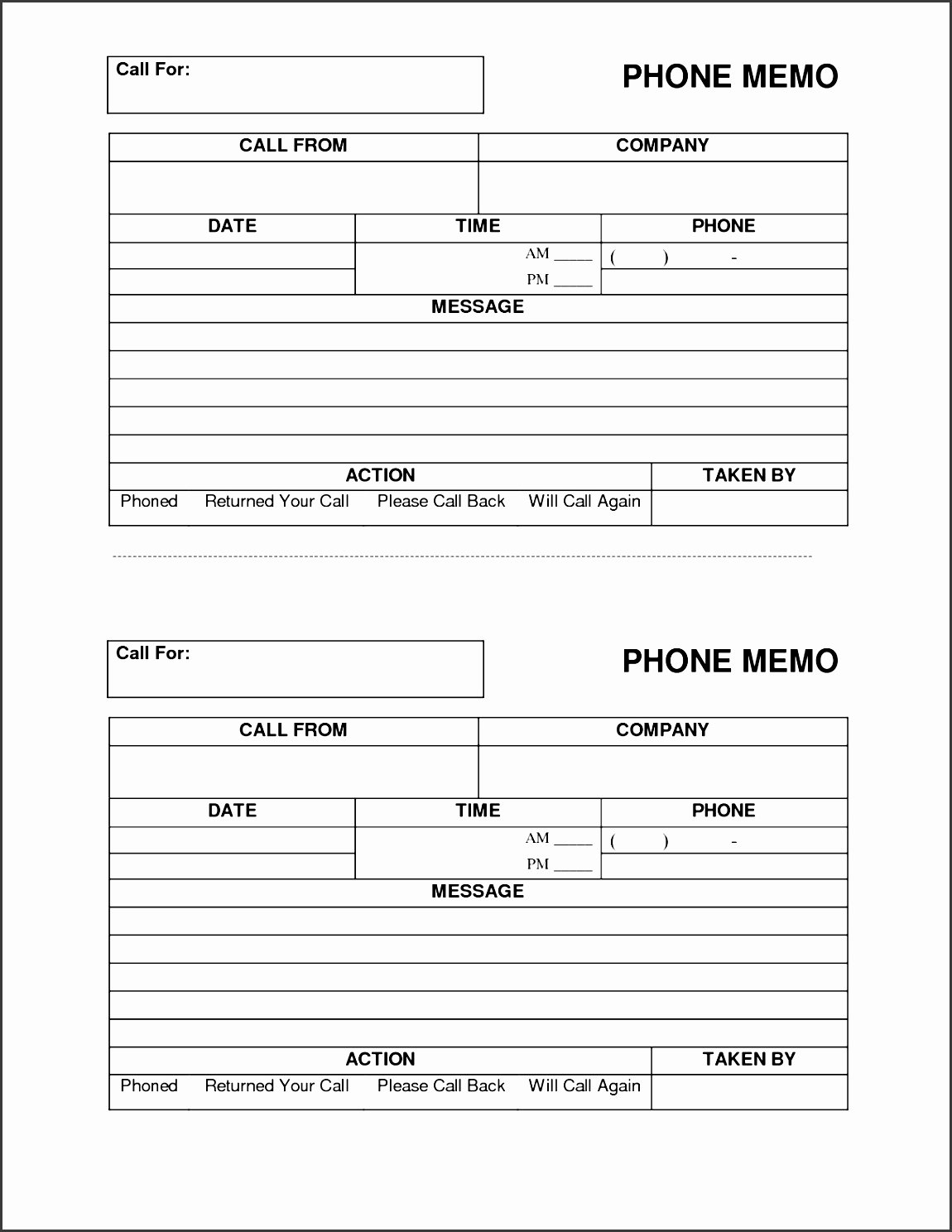 Phone Message Log Template New 4 Easy to Use Telephone Message Template