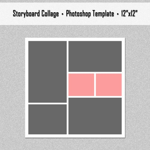 Photo Collage Template Photoshop Elegant Shop Collage Template