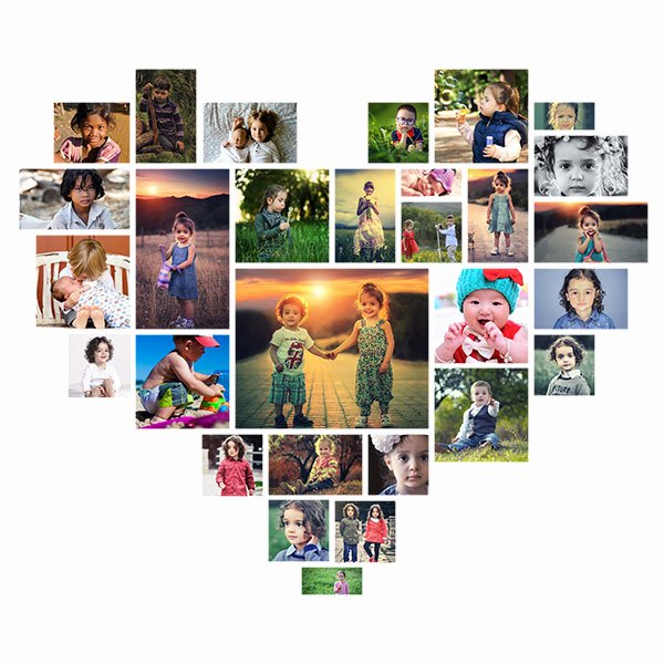 Photo Collage Template Photoshop Fresh Picture Editing Heart Shaped Shop Collage Template