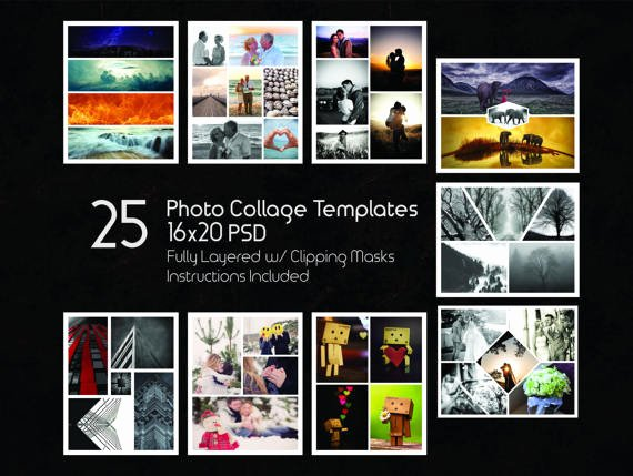 Photo Collage Template Photoshop Inspirational 16x20 Collage Templates Pack 25 Psd Templates