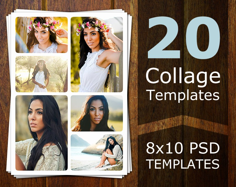 Photo Collage Template Photoshop Inspirational Shop Collage Templates Collage Templates