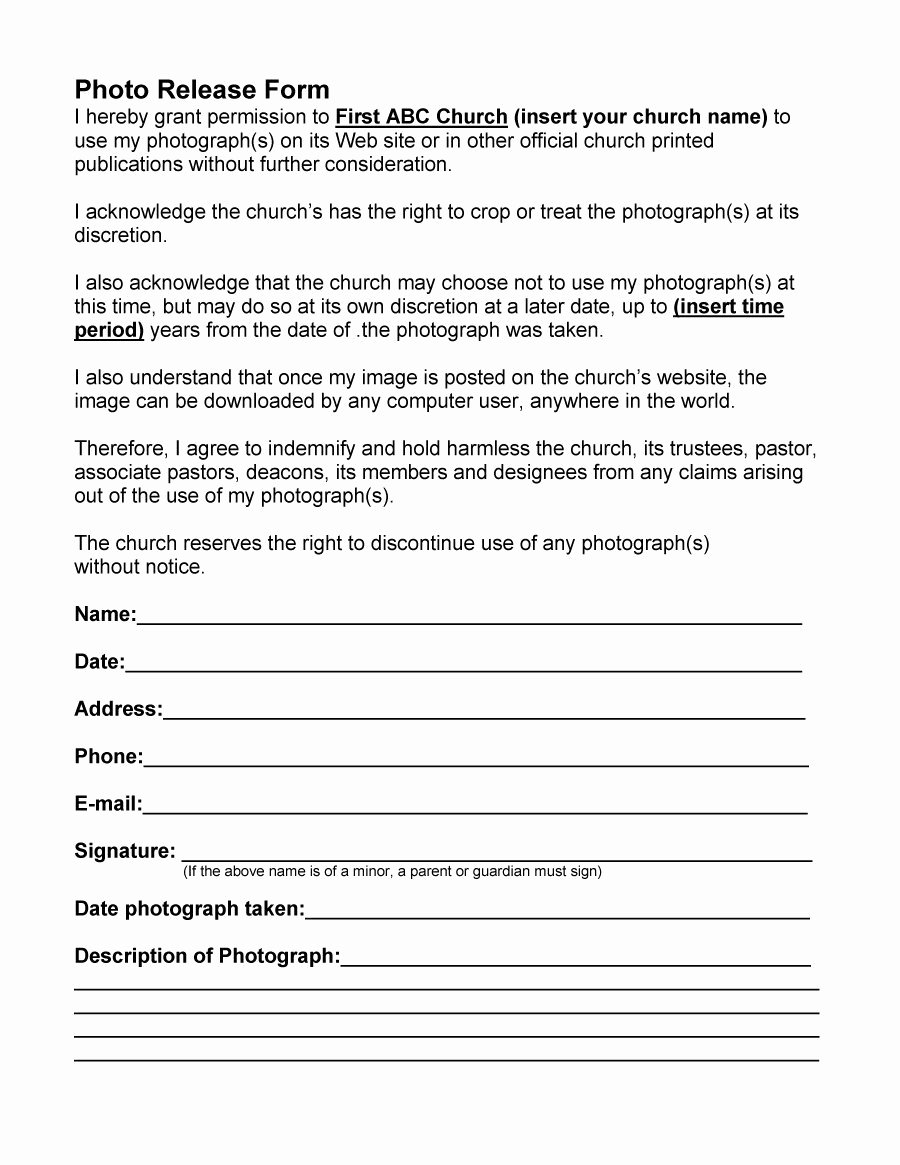 Photo Consent form Template Beautiful 53 Free Release form Templates [word Pdf]