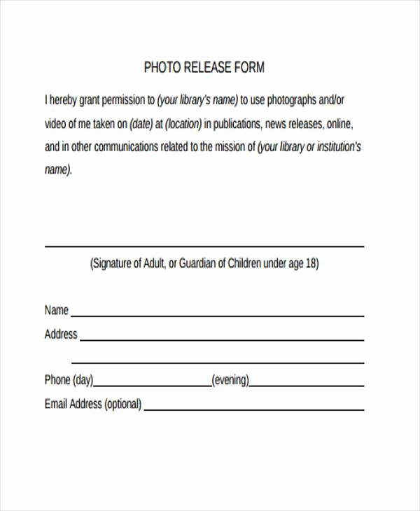 Photo Consent form Template Inspirational Release form Templates