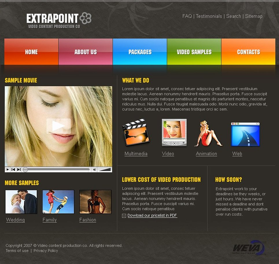 Photo Gallery Website Template Best Of Video Gallery Website Template
